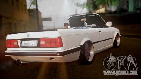 BMW E30 Cabrio B. O. Construction for GTA San Andreas left view