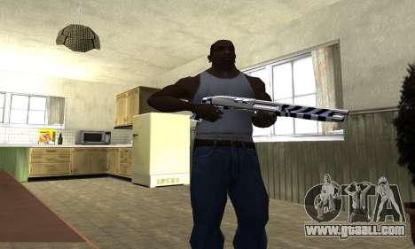 Black Lines Shotgun for GTA San Andreas third screenshot