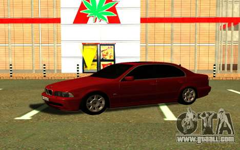 BMW 540i E39 for GTA San Andreas back left view