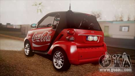 Smart ForTwo Coca-Cola Worker for GTA San Andreas left view