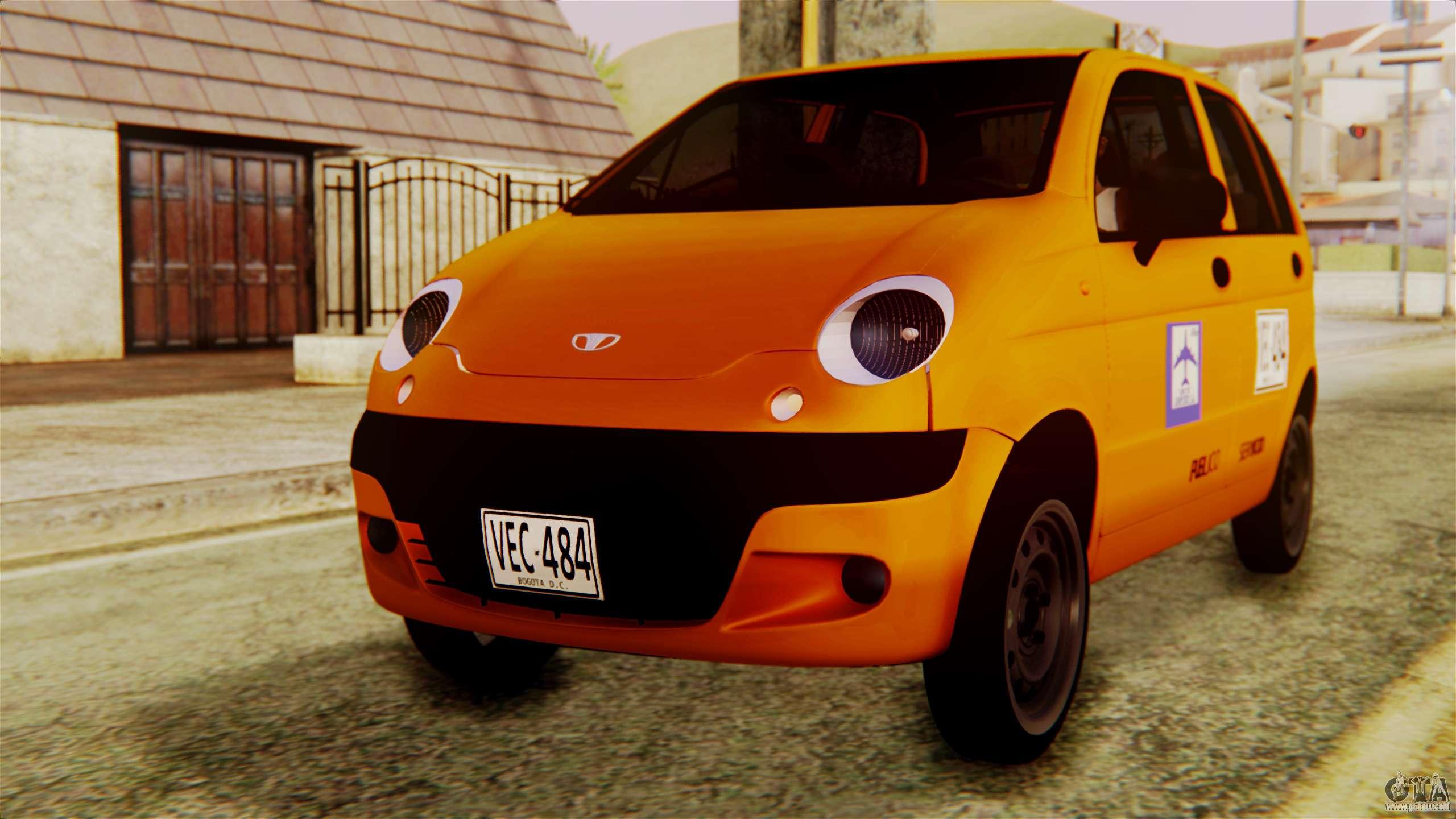 Daewoo Matiz Taxi for GTA San Andreas