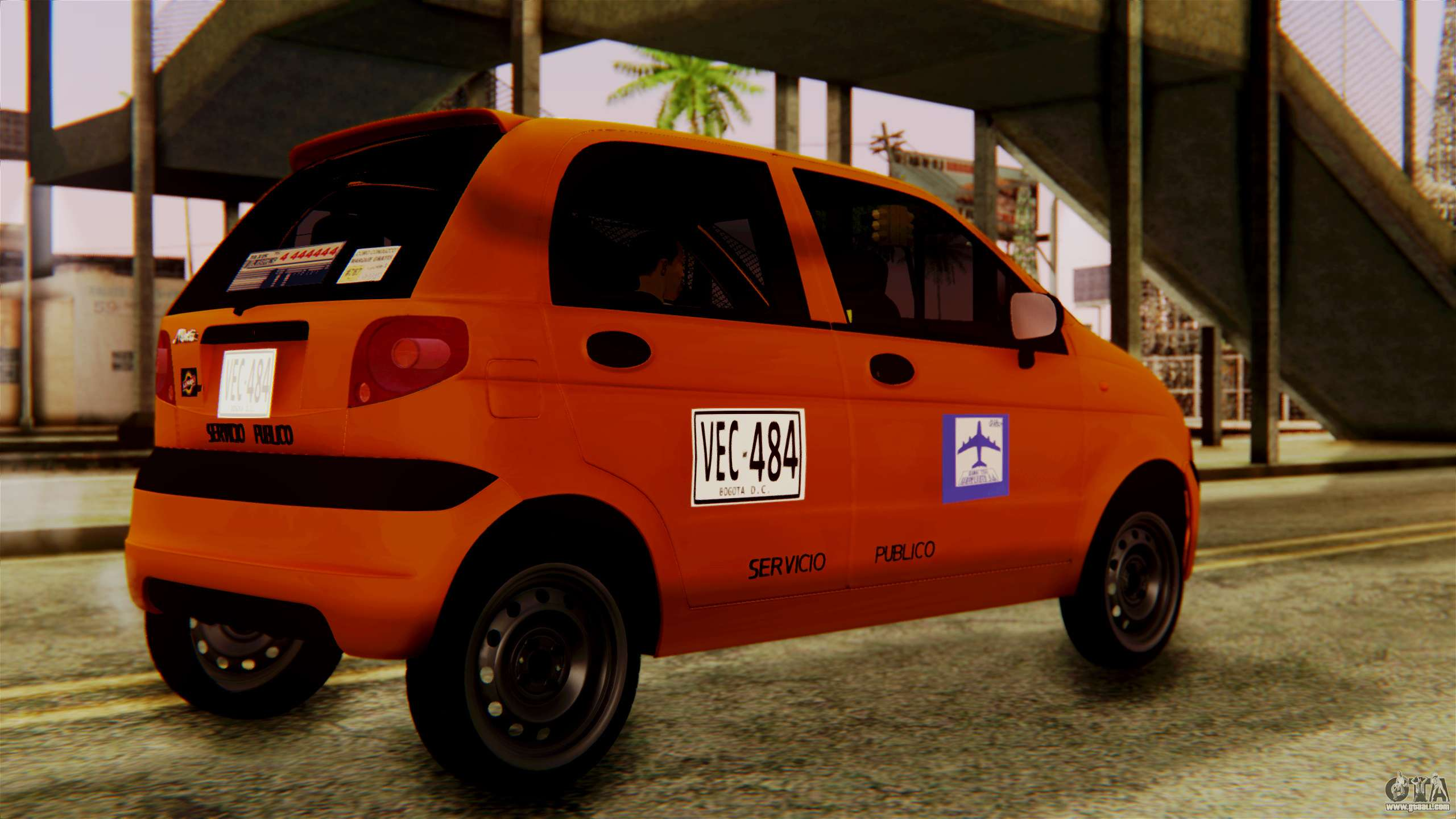 daewoo matiz taxi for gta san andreas. Black Bedroom Furniture Sets. Home Design Ideas