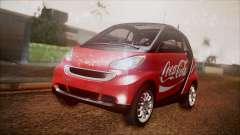 Smart ForTwo Coca-Cola Worker for GTA San Andreas