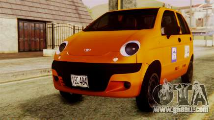 Daewoo Matiz Taxi for GTA San Andreas