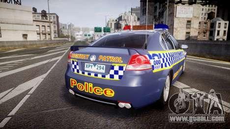 Holden VE Commodore SS Highway Patrol [ELS] v2.1 for GTA 4 back left view