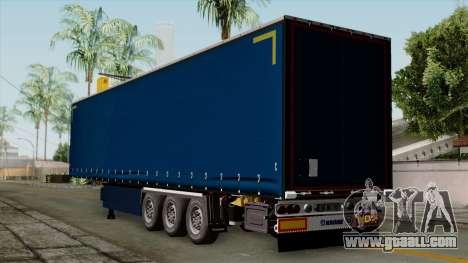 Trailer Krone Profiliner v2 for GTA San Andreas left view