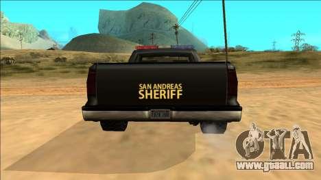 New Yosemite Police v2 for GTA San Andreas upper view