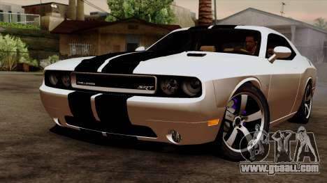 Dodge Challenger SRT8 392 2012 Stock Version 1.0 for GTA San Andreas