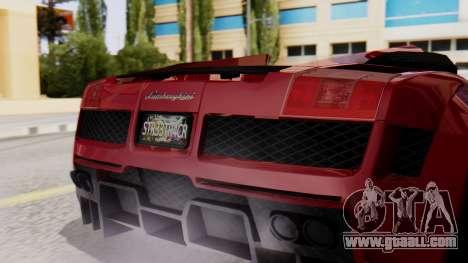 Lamborghini Gallardo J Style for GTA San Andreas back view