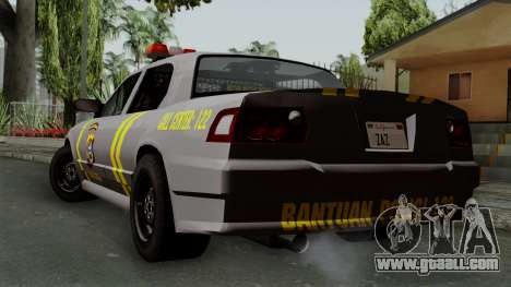 Indonesian Police Type 1 for GTA San Andreas left view