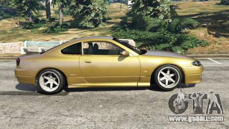 GTA 5 Nissan Silvia S15 (Wide & Camber) v0.1 left side view