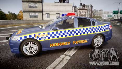 Holden VE Commodore SS Highway Patrol [ELS] v2.1 for GTA 4 left view