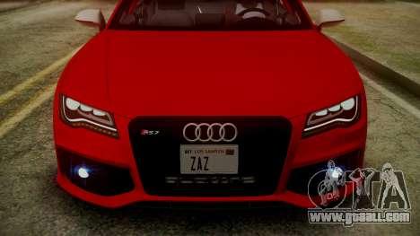 Audi RS7 2014 for GTA San Andreas interior
