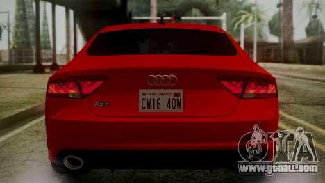 Audi RS7 2014 for GTA San Andreas wheels