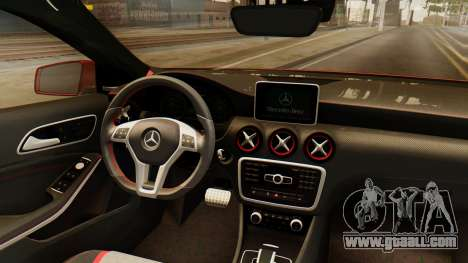 Mercedes-Benz A45 AMG 2012 for GTA San Andreas inner view