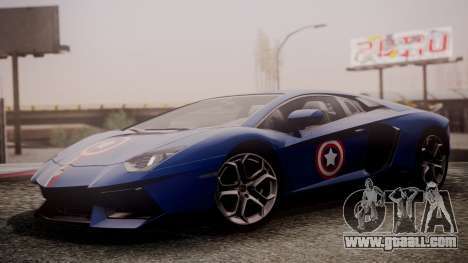 Lamborghini Aventador LP 700-4 Captain America for GTA San Andreas back left view