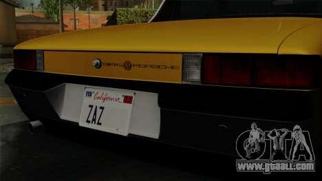 Porsche 914 1970 for GTA San Andreas back view