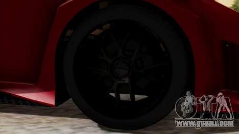 Lamborghini Gallardo J Style for GTA San Andreas back left view