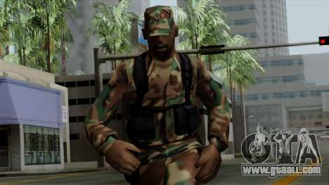 The African American soldier in the standard cam for GTA San Andreas