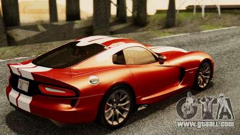 Dodge Viper SRT GTS 2013 IVF (MQ PJ) HQ Dirt for GTA San Andreas left view