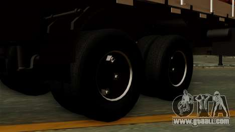 Trailer Cows for GTA San Andreas back left view