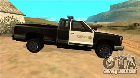 New Yosemite Police v2 for GTA San Andreas inner view