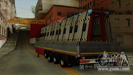 Flatbed3 Red for GTA San Andreas left view