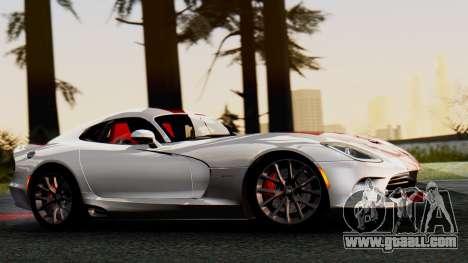 Dodge Viper SRT GTS 2013 IVF (MQ PJ) HQ Dirt for GTA San Andreas back left view