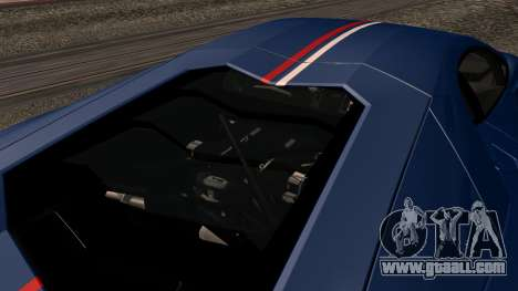 Lamborghini Aventador LP 700-4 Captain America for GTA San Andreas interior