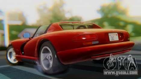 Dodge Viper RT-10 1992 for GTA San Andreas left view