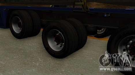 Flatbed3 Yellow for GTA San Andreas back left view
