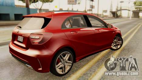 Mercedes-Benz A45 AMG 2012 for GTA San Andreas back left view