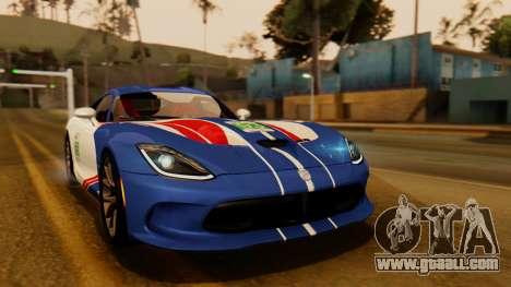 Dodge Viper SRT GTS 2013 IVF (HQ PJ) HQ Dirt for GTA San Andreas upper view