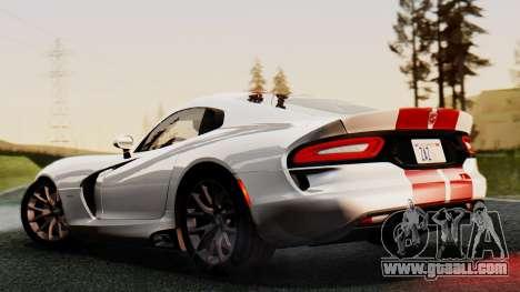 Dodge Viper SRT GTS 2013 IVF (MQ PJ) HQ Dirt for GTA San Andreas inner view