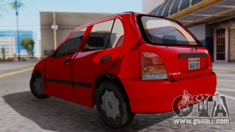Toyota Starlet 5P 1.3L 1998 for GTA San Andreas left view