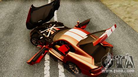 Dodge Viper SRT GTS 2013 IVF (MQ PJ) HQ Dirt for GTA San Andreas upper view
