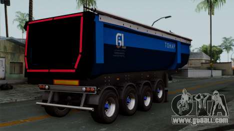 Trailer Tohap for GTA San Andreas left view