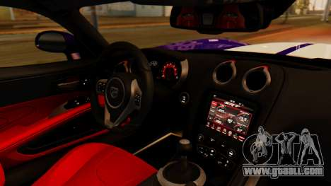 Dodge Viper SRT GTS 2013 IVF (HQ PJ) HQ Dirt for GTA San Andreas back left view