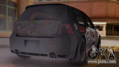 Volkswagen Golf R32 JDM Itasha for GTA San Andreas left view