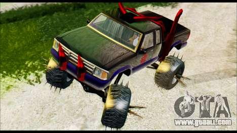 Predaceptor Monster Truck (Saints Row GOOH) for GTA San Andreas back left view