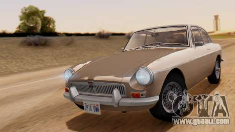 MGB GT (ADO23) 1965 HQLM for GTA San Andreas back left view