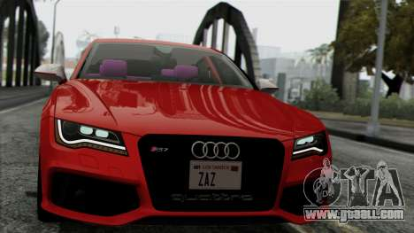 Audi RS7 2014 for GTA San Andreas back left view