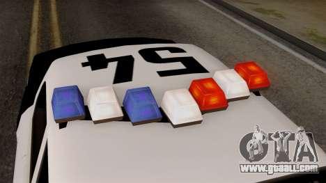 GTA 5 LS Police Car for GTA San Andreas back view