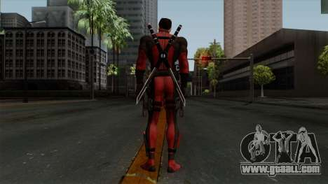 Deadpool without Mask for GTA San Andreas third screenshot