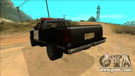New Yosemite Police v2 for GTA San Andreas bottom view