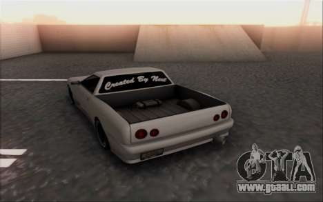 Elegy Pickup By Next for GTA San Andreas back left view