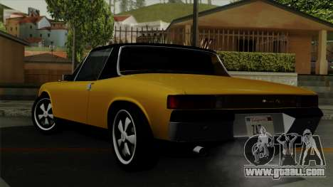 Porsche 914 1970 for GTA San Andreas left view
