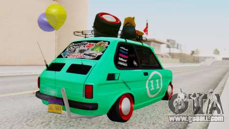 Fiat 126 bis B. O. Construction for GTA San Andreas left view