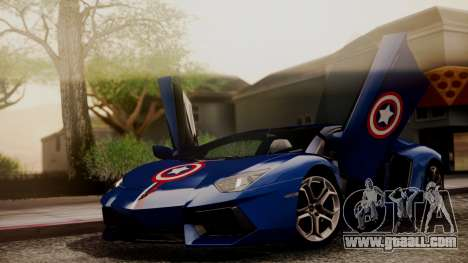 Lamborghini Aventador LP 700-4 Captain America for GTA San Andreas upper view