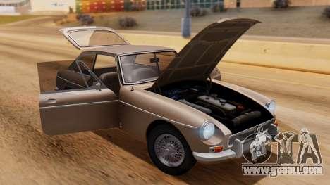 MGB GT (ADO23) 1965 HQLM for GTA San Andreas back view